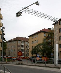 نمونه از سیستم دریافت اطلاعات عبور خودرو ها و ثبت شارژ مربوط در یک خیابان استکهلم