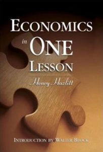 Economics in one lesson henry hazlitt